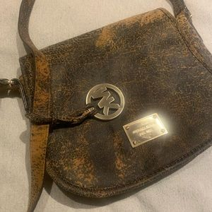 Michael Kors suede print bag